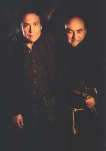 Donald F. Glut y Paul Naschy durante el rodaje del filme.