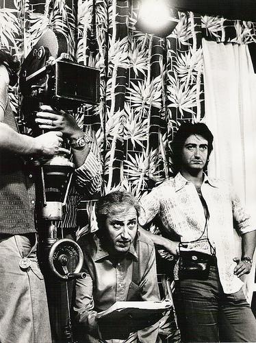 """José Ulloa (en el centro), durante el rodaje de """"El refugio del miedo"""""""