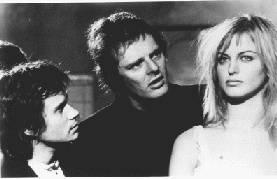Paul Morrisey dando instrucciones a Arno Juerging  y Dalila Di Lazzaro durante el rodaje.