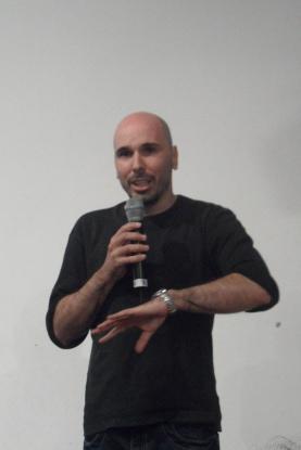 """César del Álamo, director de """"Buenas noches, dijo la señorita pajaro""""."""