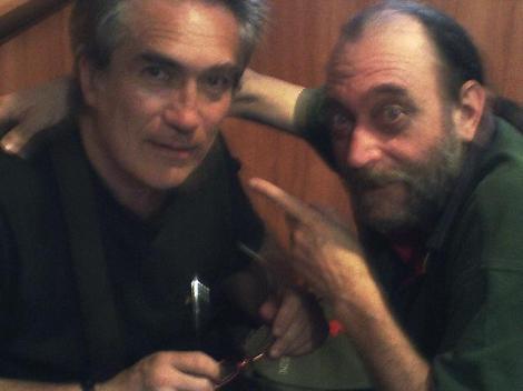 Germán Monzó junto a Josep en una foto reciente.