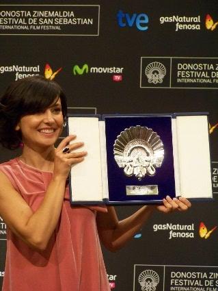 """Marián Álvarez, mejor actriz por su papel en """"La herida""""."""