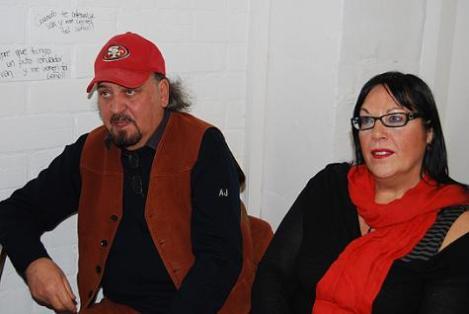 Claudio Fragasso junto a su esposa y colaboradora, Rosella Drudi, en un momento de la entrevista.