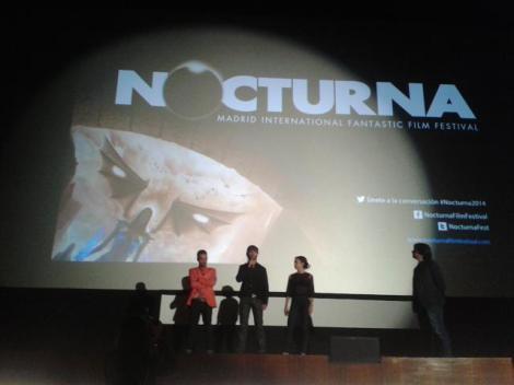 """El equipo de """"La cueva"""" presentando la película antes de su pase."""