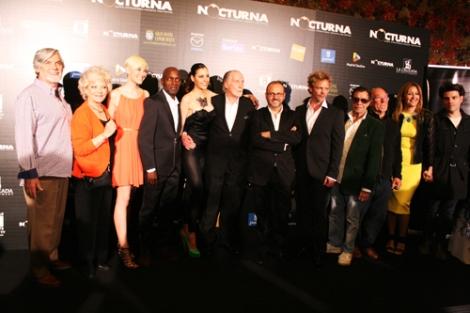 Gran parte del equipo antes de la proyección de la película.