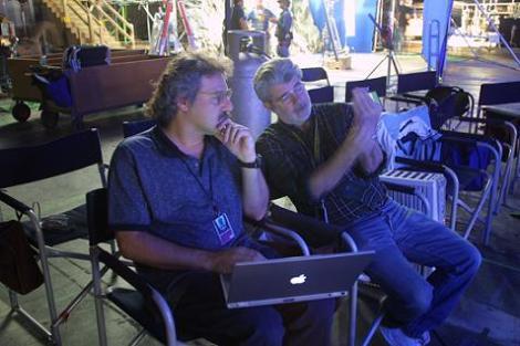 Pablo Helman junto a George Lucas.