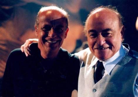 Iván Cardoso y Paul Naschy durante el rodaje del film.