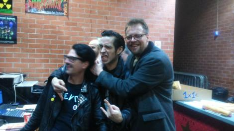 Dinger King, J. Oskura Nájera y Olaf Ittenbach durante el pasado Horrorvision.