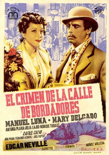 """Cartel de """"El crimen de la calle Bordadores/Fuencarral""""."""