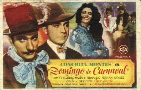 "Cartel de ""Domingo de Carnaval""."