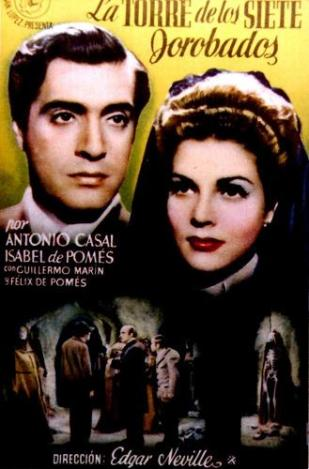 """Cartel de """"La torre de los siete jorobados""""."""