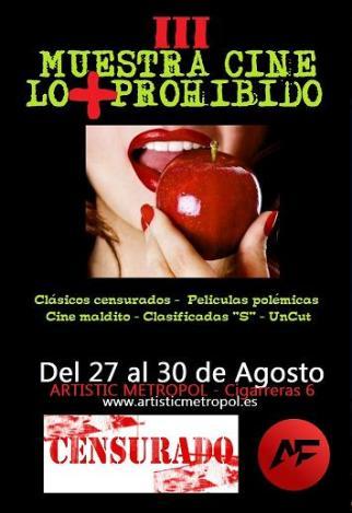 Cartel CINE LO + PROHIBIDO