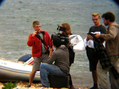 Amadeu dando instrucciones en un momento del rodaje.
