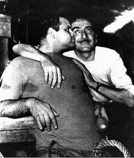Lucio Fulci junto a Mario Bava.
