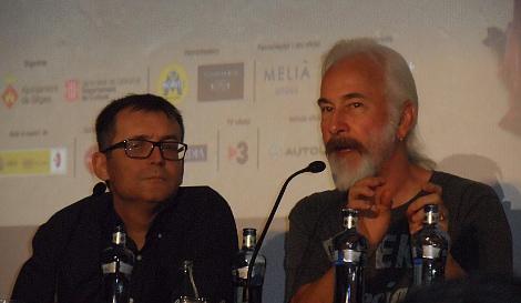 Junto a Ángel Sala, director del Festival de Sitges.