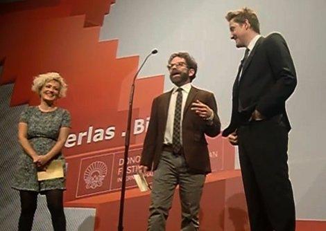 """Presentación de  """"Anomalisa,"""" con sus directores Charlie Kaufman y Duke Johnson."""