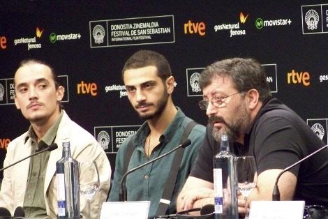 """Rueda de prensa de """"Moira"""" con su director Levan Tutberidze y los actores Paata Inauri y Giorgi Khurtsilava."""