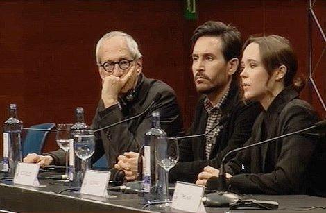 """Rueda de prensa de """"Freeheld"""", con su  director Peter Sollett y los actores Michael Shamberg y Ellen Page."""