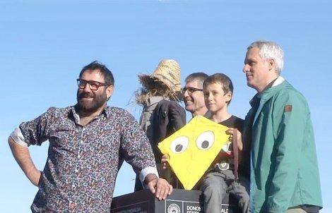 """Photocall de """"Un dia Perfecte per Volar"""", con el director Marc Recha  y los actores Sergi Lopez y Roc Recha."""