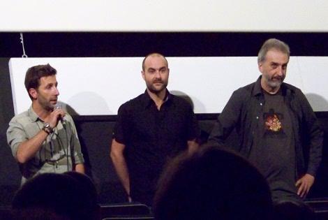 """El equipo de """"Psiconautas"""", Farruco Castromar, Alberto Vázquez y Pedro Rivero presentando la película."""