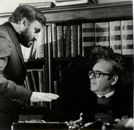 """Naschy y Bosch durante el rodaje de """"Exorcismo""""."""