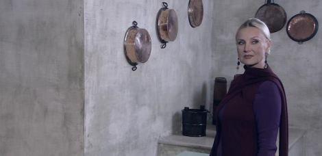 Barbara Bouchet en una imagen de la película, en la que da vida a la bruja Sibilla.
