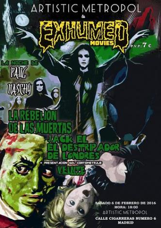 poster sabado naschy madrid febrero 2016 BAJA