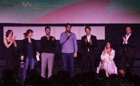 """El equipo de """"Vulcania"""" durante la presentación de la película en la Muestra."""