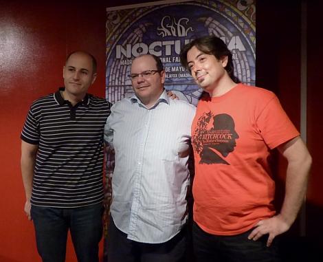 Luis junto a Sergio Molina y José Luis Alemán, los otros alma maters del festival.