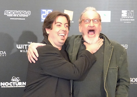 Luis bromeando con Robert Englund, el invitado estrella de NOCTURNA 2015.