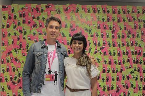 Diego junto a la actriz Sara Casasnovas con la que formó parte del jurado del reciente Fancine de Lemos 2016. (Fotografía de Elena Patiño)