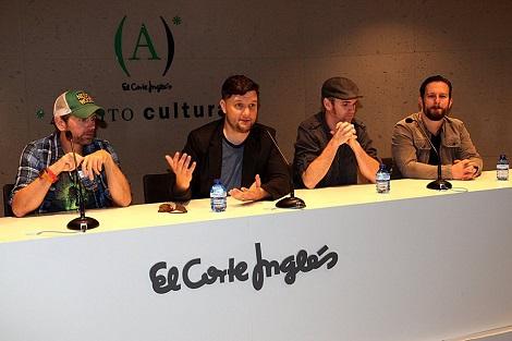 """El equipo de """"House Harker"""" durante la rueda de prensa de presentación en Nocturna."""