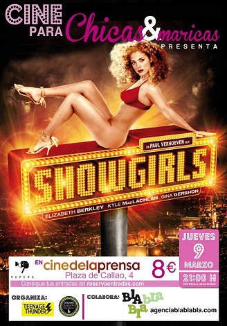 Poster Chicas y Maricas SHOWGIRLS