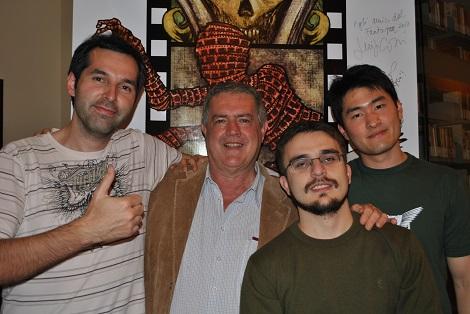 Fantaspoa 2010 - a partir de la izquierda, el director Felipe, Luigi y los productores de FantastiCozzi João Pedro Fleck y Nicolas Tonsho