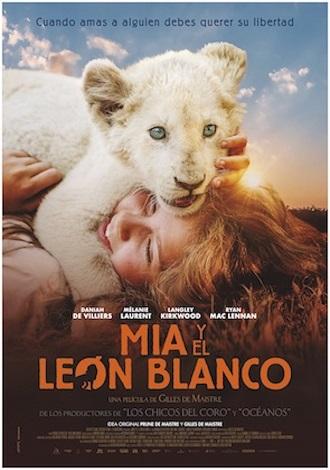 Mia y el león blanco-póster