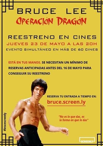 Reestreno Operación Dragón Bruce Lee