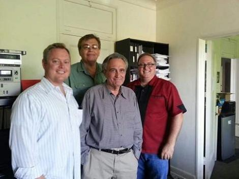 Equipo King Cohen con Joe Dante
