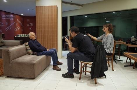 La filmación del documental, con la directora de fotografía Lisi Kieling 1 (2017)