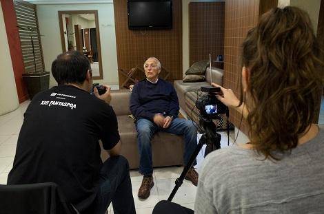 La filmación del documental, con la directora de fotografía Lisi Kieling 2 (2017)