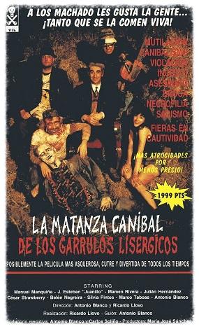 La matanza caníbal de los garrulos lisérgicos-carátula