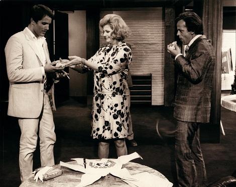 Con Rita Hayworth y Klaus Kinski en I bastardi