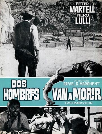 Dos hombres van a morir-póster