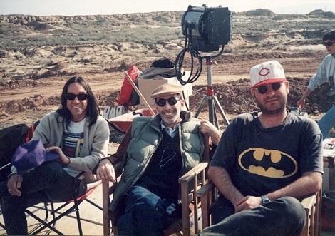 Iggy Pop-Félix Rotaeta y Óscar Aibar en el rodaje de Atolladero
